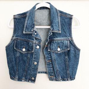 Bongo Brand Womens Jean Demin Vest Blue